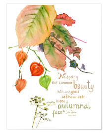 Premium-Poster  Gedicht von John Donna - Verbrugge Watercolor
