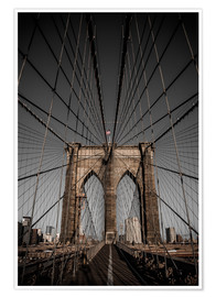 Premium-Poster Brooklyn Bridge