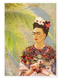Poster  Frida Kahlo mit Rehkitz - Moon Berry Prints