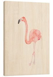 Holzbild  Flamingo - Dearpumpernickel