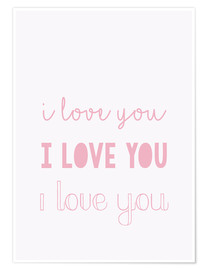 Premium-Poster  I love you - Ich liebe dich, pastel - Finlay and Noa