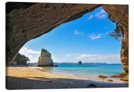 Leinwandbild  Cathedral Cove - Denis Feiner