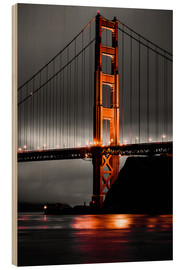 Holzbild  Golden Gate - Denis Feiner