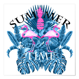 Premium-Poster SUMMER TIME BLUE