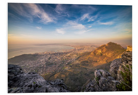 Hartschaumbild  Table Mountain View - Salvadori Chiara
