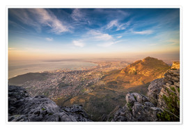 Premium-Poster  Table Mountain View - Salvadori Chiara