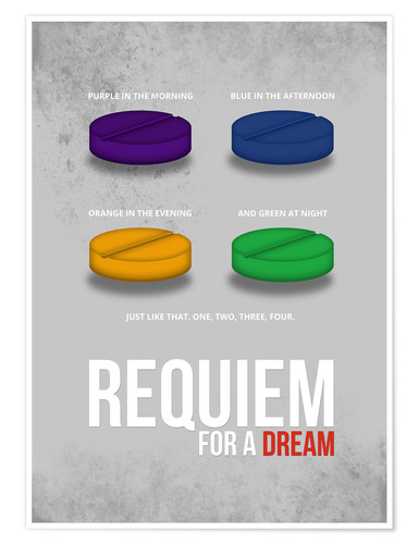 Premium-Poster Requiem for a Dream - Minimal Movie FIlm Alternative