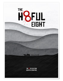 Premium-Poster The Hateful Eight - Hateful 8 -  Minimal Tarantino Movie Film Alternative Fanart