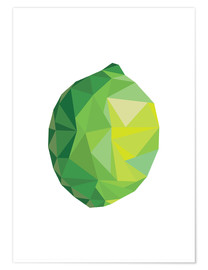 Premium-Poster  Polygon Limette - Finlay and Noa