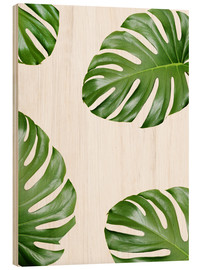 Holzbild  Angriff der Monstera - Finlay and Noa