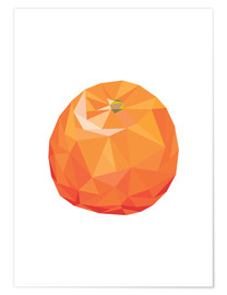 Premium-Poster Polygon Orange
