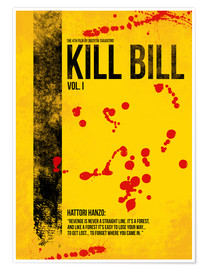 Premium-Poster Kill Bill - Tarantino Minimal Film Movie Alternative