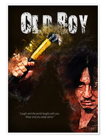 Premium-Poster Oldboy - Minimal Film Movie Fanart Alternative