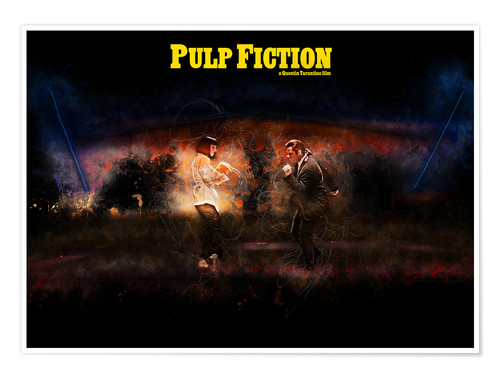 Premium-Poster Pulp Fiction - Fanart Minimal Tarantino Tanz Alternative
