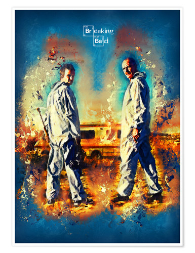 Premium-Poster Breaking Bad - Walter White Serien Show Alternative