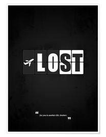 Premium-Poster Lost - Minimal TV Serie Alternative