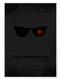 Premium-Poster Terminator - Minimal Film Movie Fanart Alternative