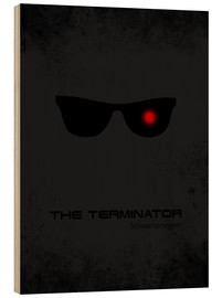 Holzbild  Terminator - Minimal Film Movie Fanart Alternative - HDMI2K