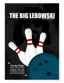 Premium-Poster The Big Lebowski - Minimal Movie Film Kult Alternative