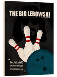 Holzbild  The Big Lebowski - Minimal Movie Film Kult Alternative - HDMI2K