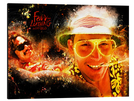 Alu-Dibond  Fear and Loathing in Las Vegas - Movie Film Alternative - HDMI2K