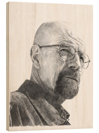 Holzbild  WALTER WHITE - pencil hommage - Cultscenes