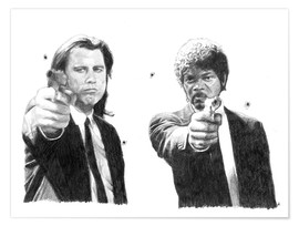 Premium-Poster PULP FICTION alternative movie art