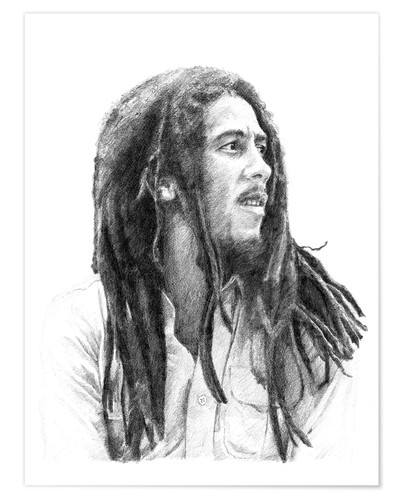 Premium-Poster BOB MARLEY alternative fan art