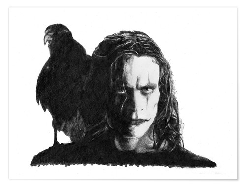 Premium-Poster THE CROW alternative movie art
