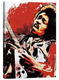Leinwandbild  alternative jimi hendrix street art style illustration - 2ToastDesign