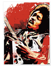Premium-Poster alternative jimi hendrix street art style illustration