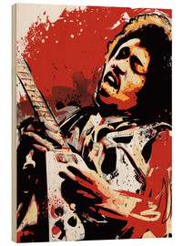 Holzbild  alternative jimi hendrix street art style illustration - 2ToastDesign