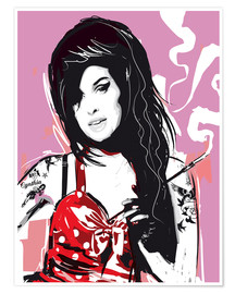 Premium-Poster alternative amy winehouse pop style illustration