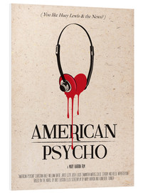 Hartschaumbild  alternative american psycho retro art - 2ToastDesign