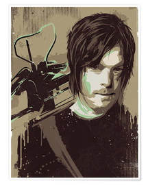 Premium-Poster Daryl Dixon, The Walking Dead