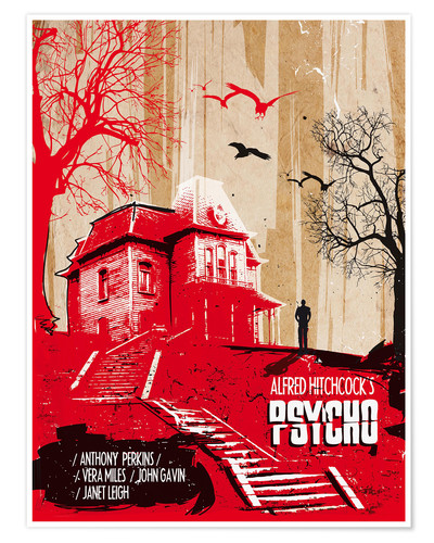 Premium-Poster Alfred Hitchcock's Psycho