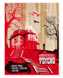 Poster alternative psycho illustration art