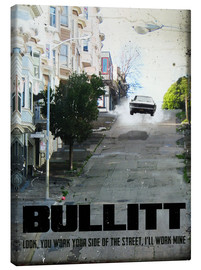 Leinwandbild  alternative bullitt retro film art - 2ToastDesign