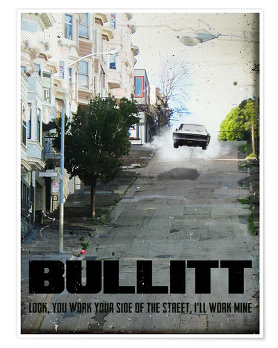 Premium-Poster alternative bullitt retro film art