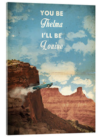 Acrylglas  alternative thelma and louise retro film art - 2ToastDesign
