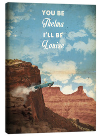Leinwandbild  alternative thelma and louise retro film art - 2ToastDesign