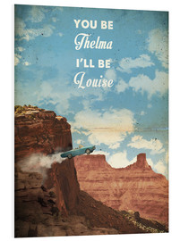 Hartschaumbild  alternative thelma and louise retro film art - 2ToastDesign