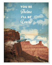 Premium-Poster  alternative thelma and louise retro film art - 2ToastDesign