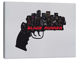 Leinwandbild  alternative blade runner rick deckard gun art - 2ToastDesign