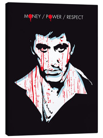 Leinwandbild  alternative scarface tony montana film art - 2ToastDesign