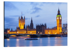 Alu-Dibond  Big Ben und Westminster Bridge in London