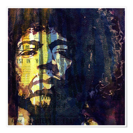 Premium-Poster  Hendrix : Winds Cry Mary Retro - Paul Lovering Arts