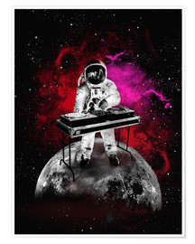 Premium-Poster  alternative space astronaut dj art - 2ToastDesign