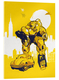 Acrylglasbild  alternative retro transformers bumblebee  art - 2ToastDesign