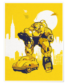 Premium-Poster  alternative retro transformers bumblebee  art - 2ToastDesign